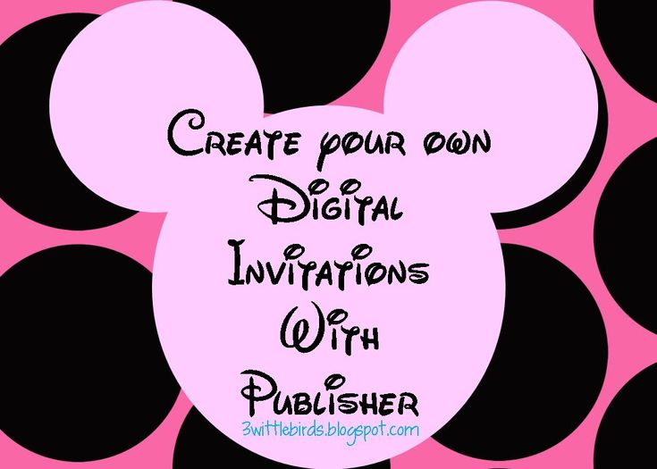 Minnie Mouse Free Printables Minnie Mouse Digital Invites St - Digital birthday invitation template