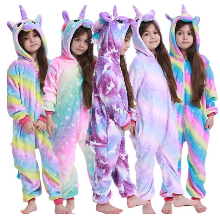 Children Unicorn Pajamas Kids Baby Animal Overalls Jumpsuit Onesie Panda Stitch Sleepwear Girls Kids Pajamas Baby Kids Baby Animals
