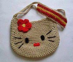 Clube do Crochê: Bolsa Hello Kitty (com gráfico)