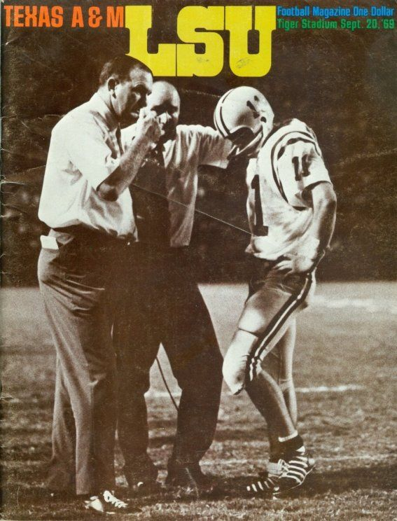 1969 Game Program between LSU vs Texas A & M on 9/20/69