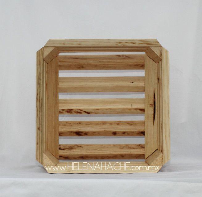 Cajas estante tipo Huacal. Para la construcción de mobiliario modular. Útil para almacenar, exhibir, dividir y de ornato.