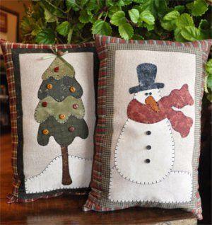Snowman and Tree Mini-Pillows