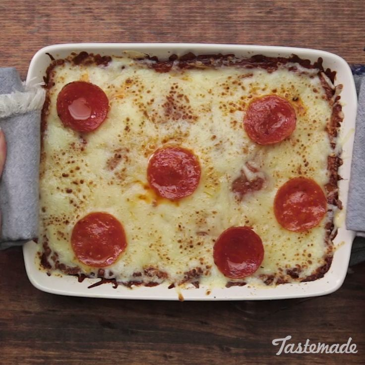 Who needs a pizza crust when you can use a bed of warm, cheesy potatoes instead?