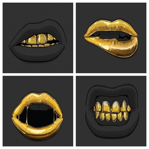 Gold Grill & Sexy Gold Lipz