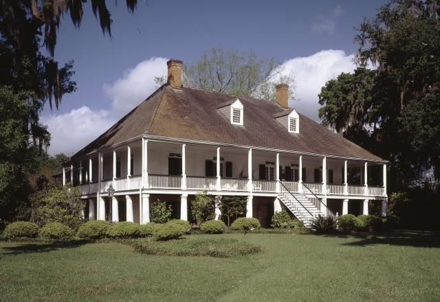 French Colonial Architecture | French Colonial Style Parlange Plantation, 1750, New Roads, Louisiana ...