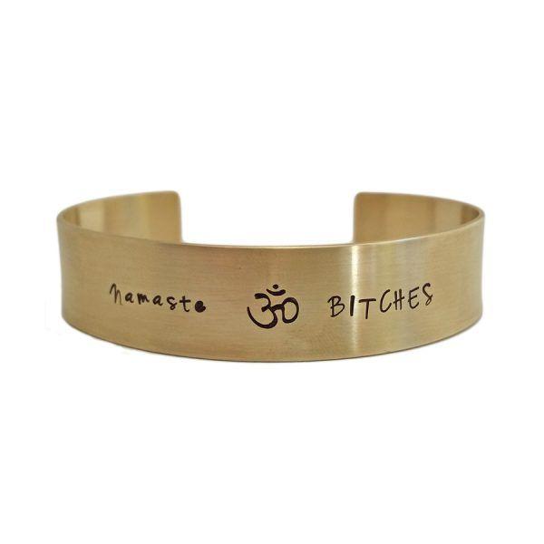 "Ohm szimbólumos karperec ""Namaste"""