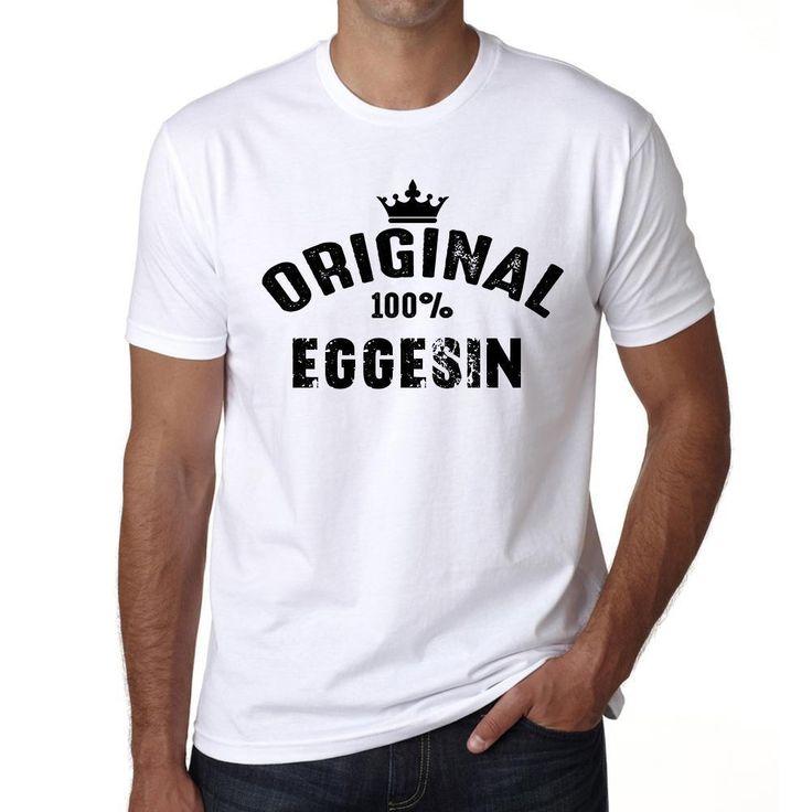 eggesin, 100% German city white, Men's Short Sleeve Rounded Neck T-shirt