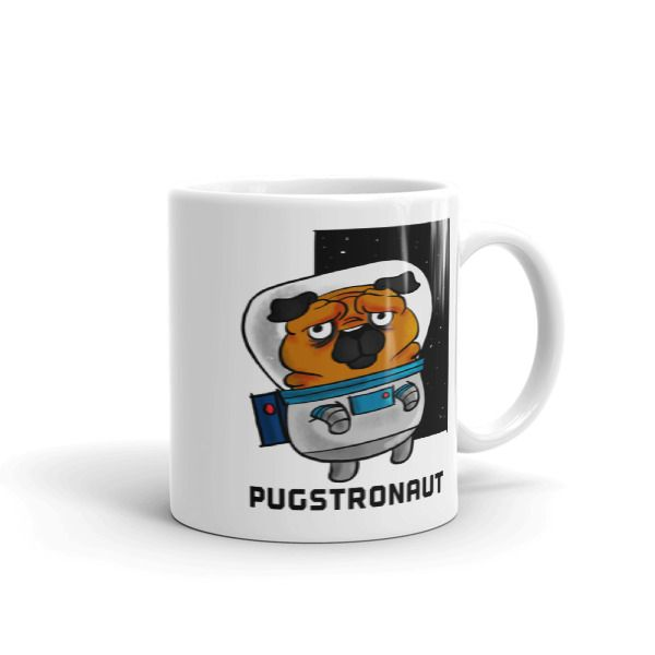Pugstronaut Mug