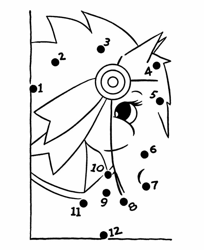 Bluebonkers Dot To Coloring Pages