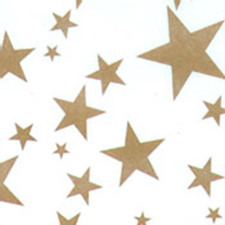 Gold Stars on White - Wholesale Tissue Paper Designs - Made in USA