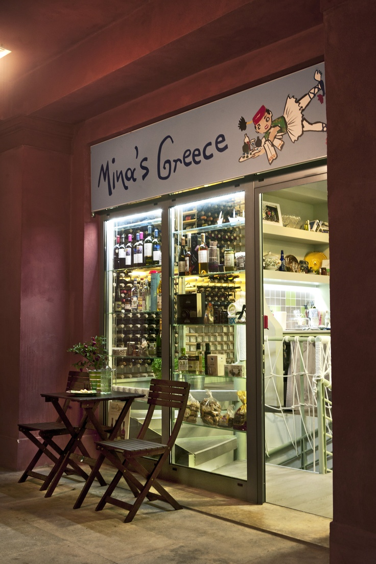 lots of Greek wines in the marina of Flisvos! Only in Mina's Greece