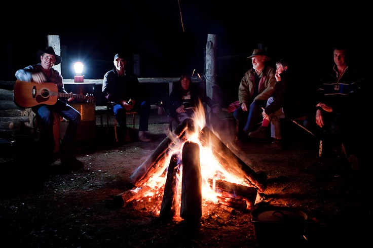 Campfire entertainment on the Famstay with Bill on guitar. #Australia #Sydney #travel A better night with genuine Aussie hospitality you won't find!