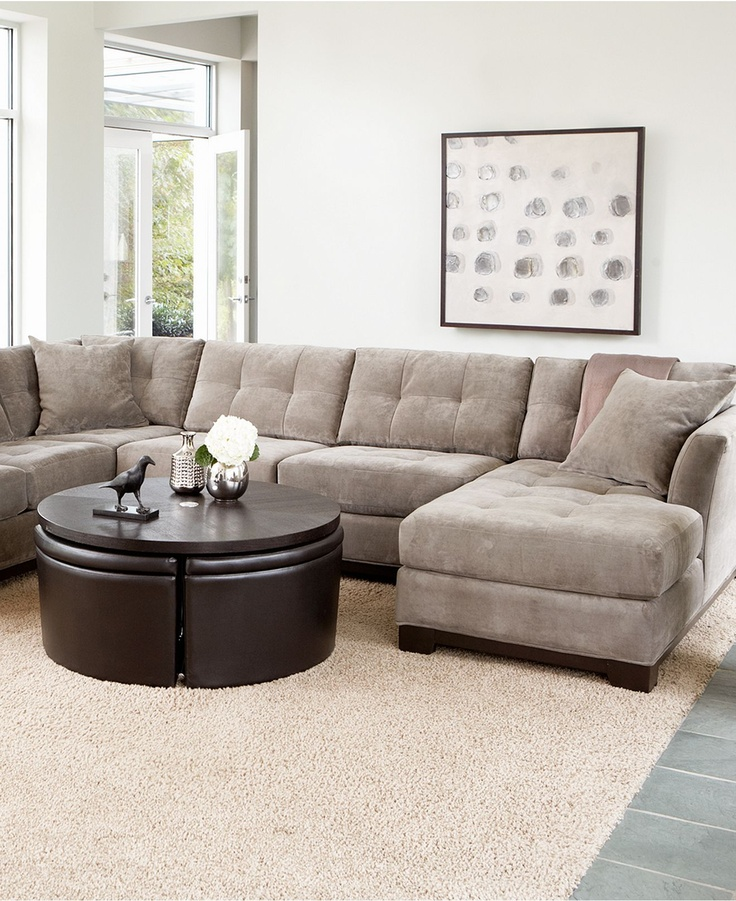 elliot fabric sectional sofa collection - sectionals - furniture