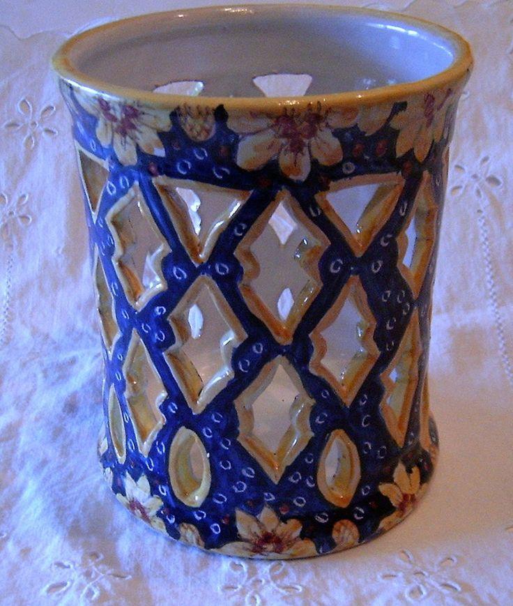 Portamestoli/ Portagrissini /Portacandela in ceramica.Interamente fatto a mano.
