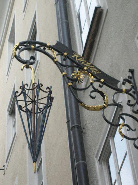 Salzburg - Umbrella Store Sign*