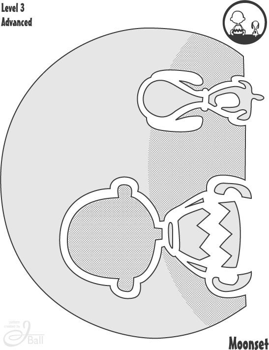 Charlie Brown and Snoopy cutout for a jack-o-lantern!