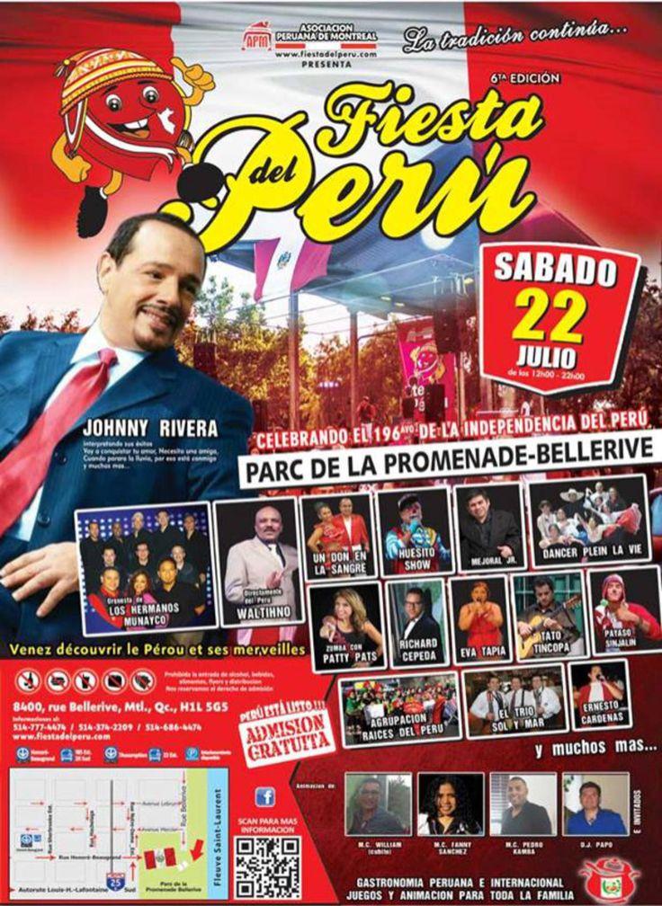 Este 22 de julio la comunidad peruana tiene una cita infaltable en el Parc de La Promenade Bellerive.