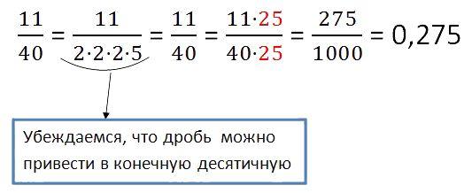 как перевести дробь в десятичную