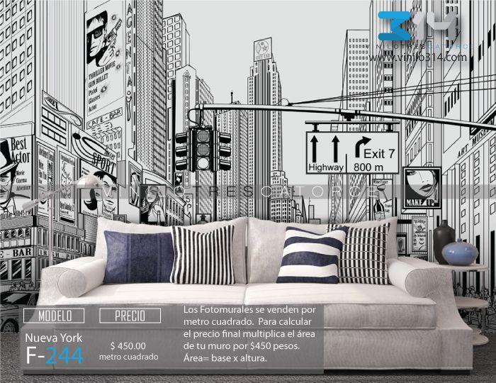 69 mejores im genes de fotomurales de ciudad en pinterest for Decoracion de interiores guadalajara