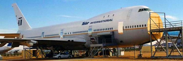 Robbed of its engines, bogeys and radome, this ex-Continental 747-100 (formerly with People Express) had met its demise in April of 1999.