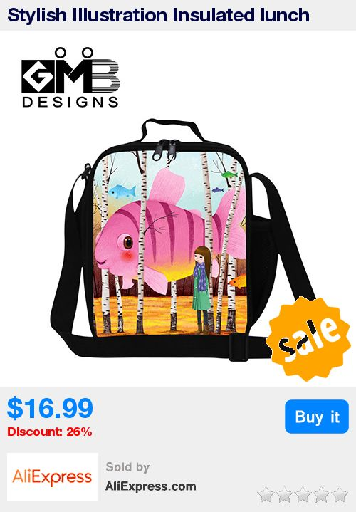 Stylish Illustration Insulated lunch bags for girls,lunch cooler bag for children,thermal lunch container for women,reusable bag * Pub Date: 16:38 Sep 15 2017