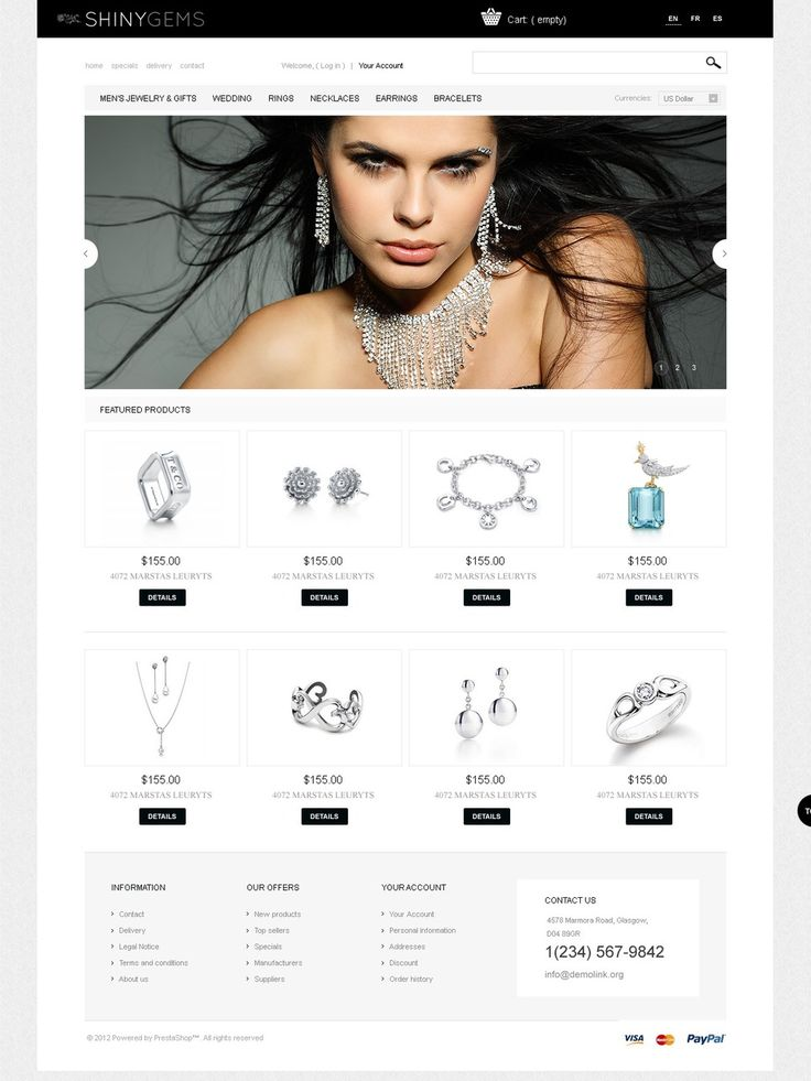 17+ Best Jewelry Store PrestaShop Themes - Shiny Gems
