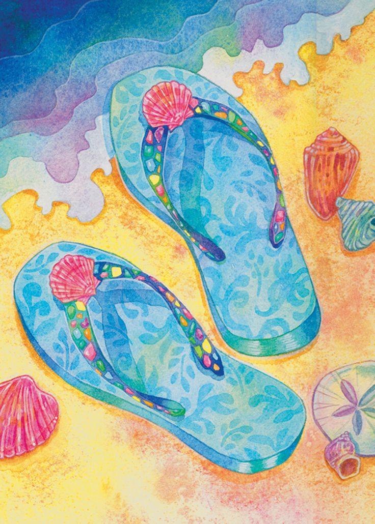 How Paint Flip Flops On Canvas