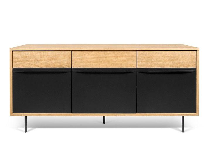 LIME Sideboard Eiche U0026 Schwarz Design Temahome Die Basics Mit Stauraum  Belastbar Bis Ca. 54kg