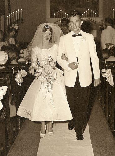 Vintage Wedding Pictures. I love wedding pics from the 50's and 60's.