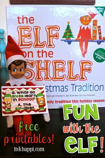 Introducing Elf on the Shelf to a new Christmas! Free printables that ...