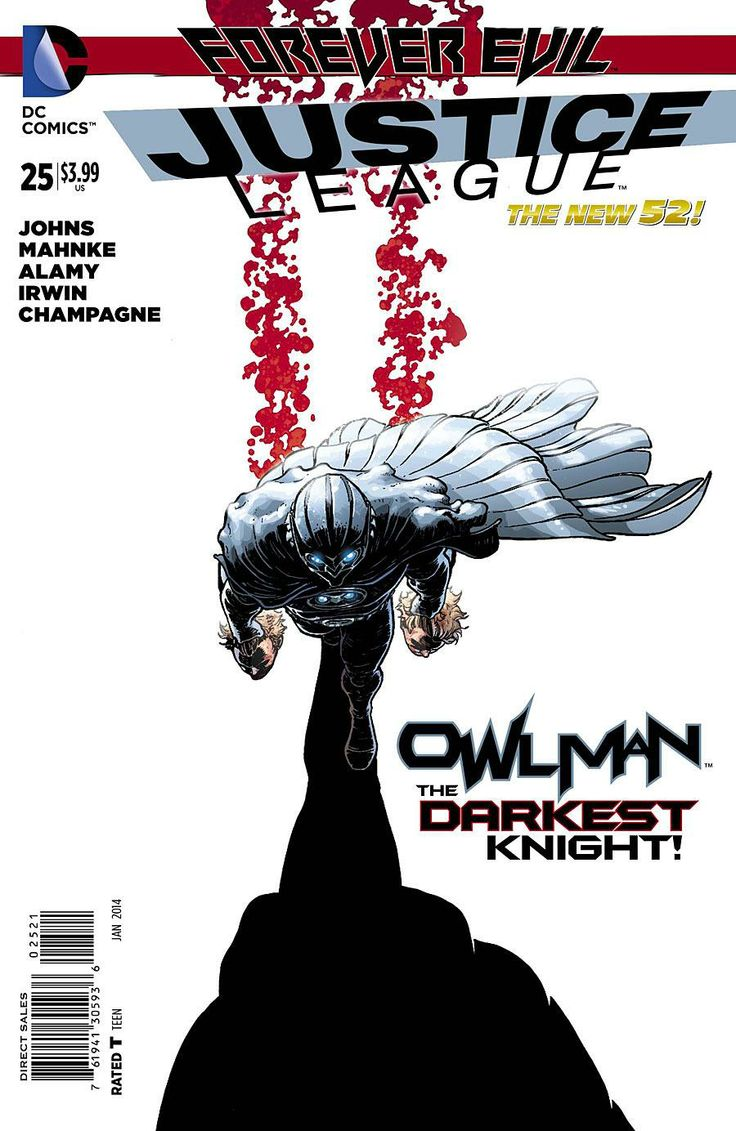 Owlman's Violent Origin Story Revealed In JUSTICE LEAGUE #25 Preview