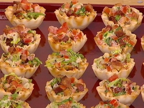 BLT cups-great for a party (finger food)