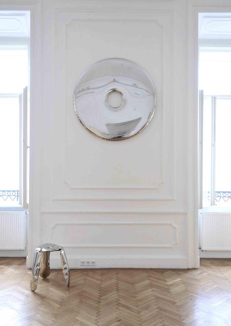 Rondo Inox Mirror - Zieta - Lime Lace