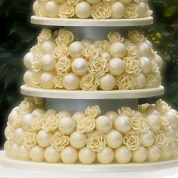 Pretty Piled And Tiered Cake Pop Display