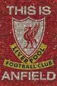 This is Anfield (Liverpool Football Club badge), Liverpool Football Club Poster: 91.5cm x 61cm - Buy Online