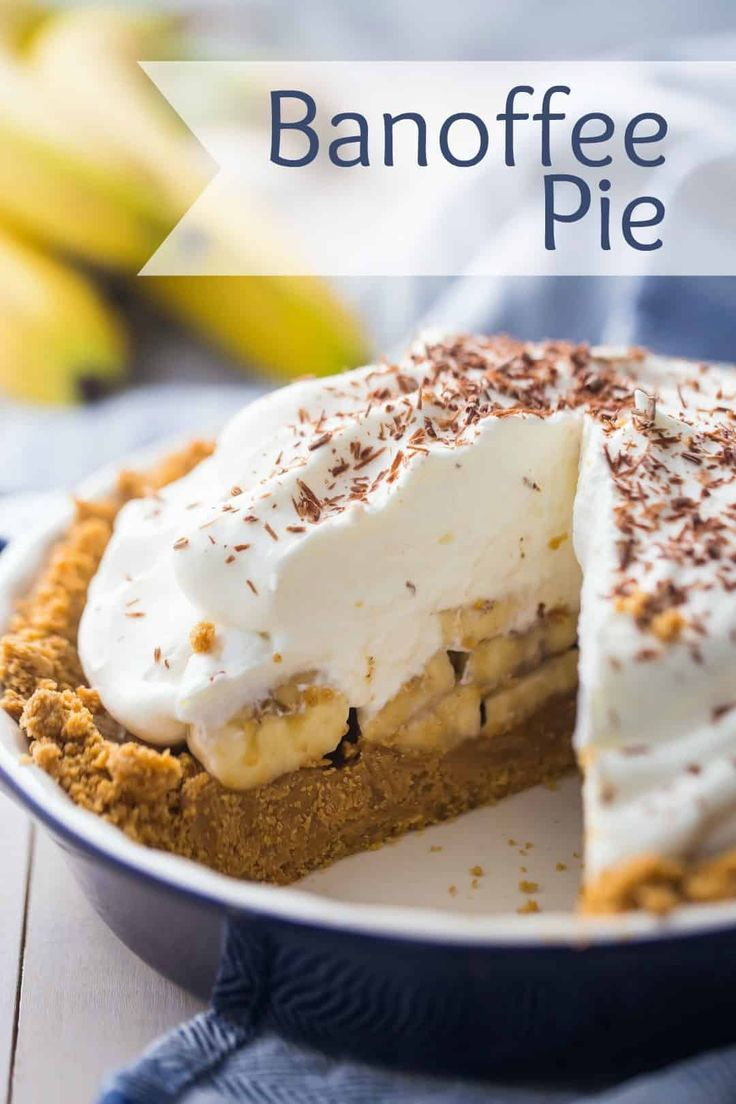 Banoffee Pie Bananas Toffee An Incredible Combo Baking A Moment In 2020 Banoffee Pie Best Banoffee Pie Recipe Banoffee