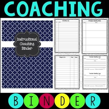 EDITABLE!  This instructional coaching binder has printable forms when working with teachers and principals that will keep you organized.  In addition, there are forms that you can edit and customize included.