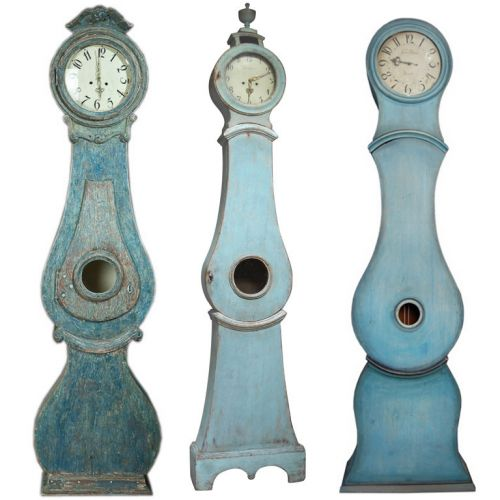 Blue Painted Mora Clocks...please don't wake me up..I dreaming