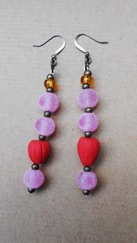 Jellybead earrings by Kuhle Apha