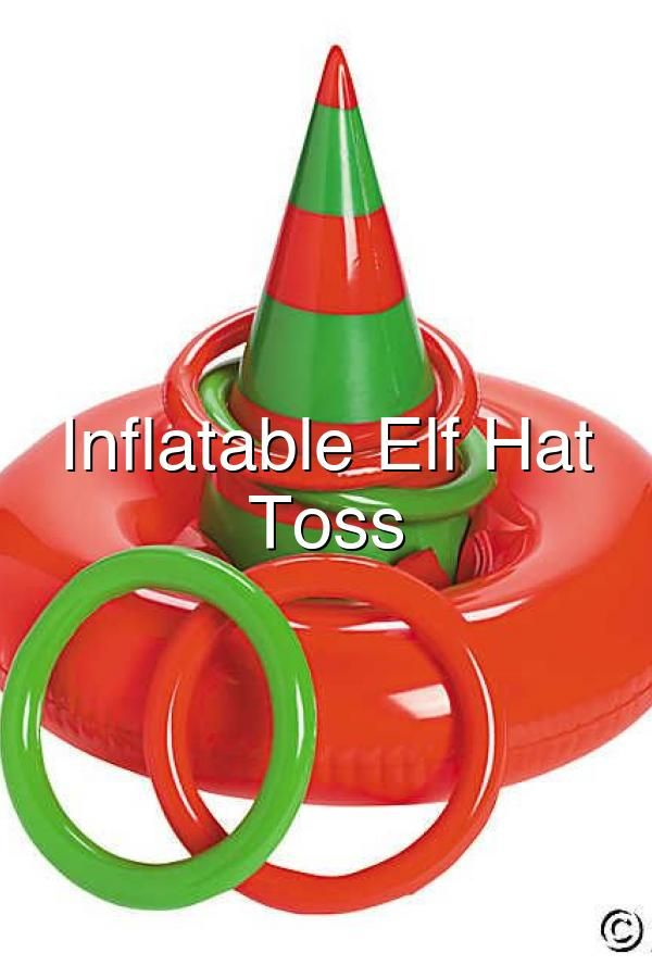 Inflatable Elf Hat Ring Toss Elf Hat Christmas Party Ring Toss