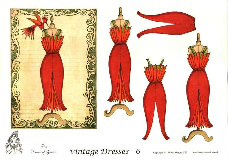 The House of Zandra decoupage - Vintage Dresses 6