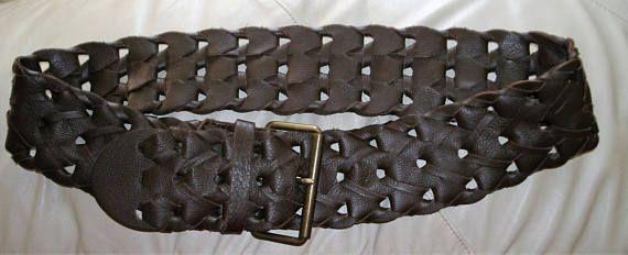 Vintage tressé ceinture en cuir Français connexion