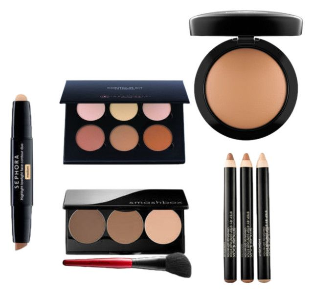 contouring by sarahdasel on Polyvore featuring beauté and MAC Cosmetics