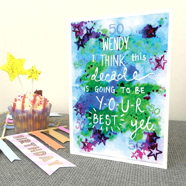 Personalised+50th+Birthday+Card, £3.95
