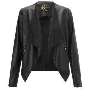 Kardashian Kollection Faux Suede Waterfall Jacket