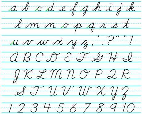 Abecedario en letra cursiva mayuscula y minuscula para imprimir ...