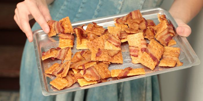 Bacon Crackers!  Oh, how I would love bacon crackers and an Old Fashioned for social hour!