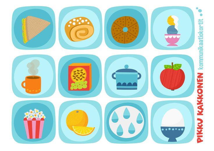 Kommunikaatiokortit | ruoka I lapset | perhe | koti | arki | kalenteri | askartelu | paperi | paper | DIY ideas | communication | food I communication card | kid crafts | Pikku Kakkonen | yle.fi/lapset