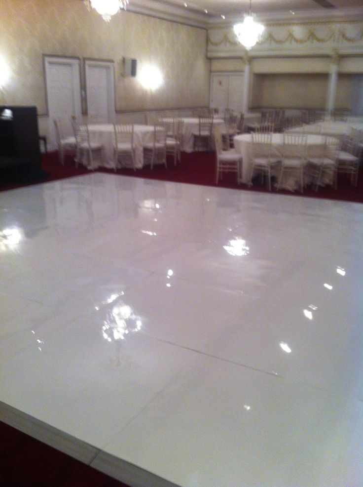 white wedding - ABS floor