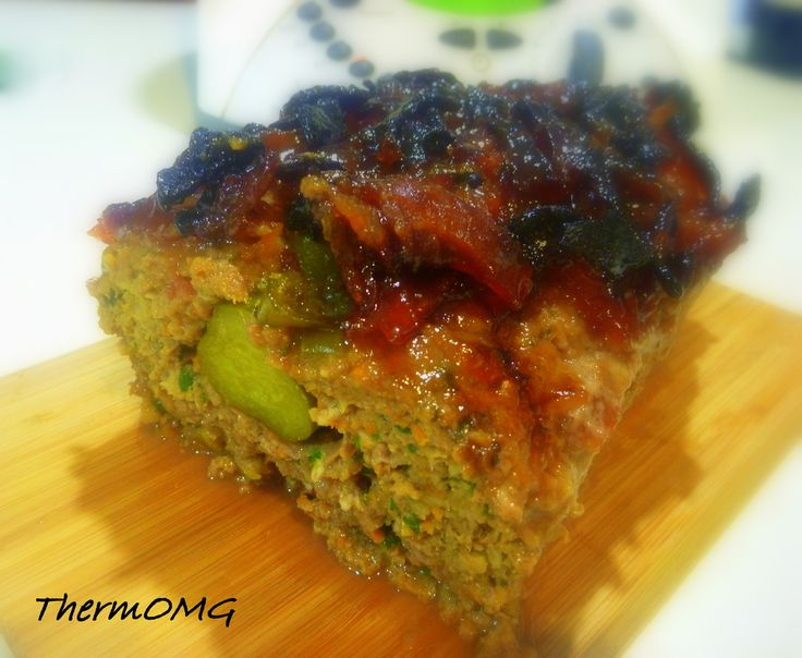 Meatloaf with Bacon Jam.